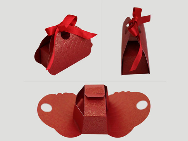 Butterfly Cake box -Red Color
