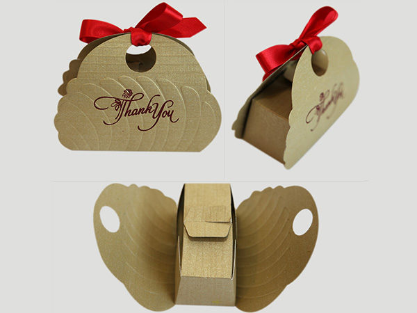 Butterfly Cake box -Glod Color