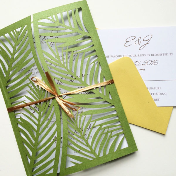 Palm Leaf Laser Cut Cards