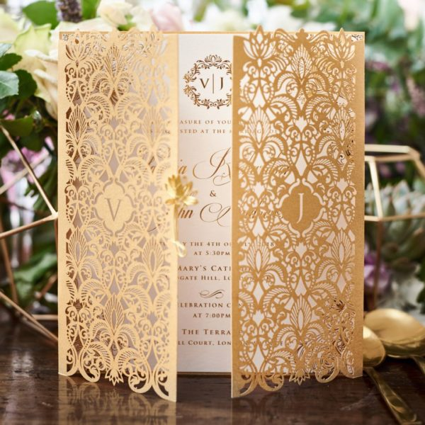 Imperial Glamour wedding invitations