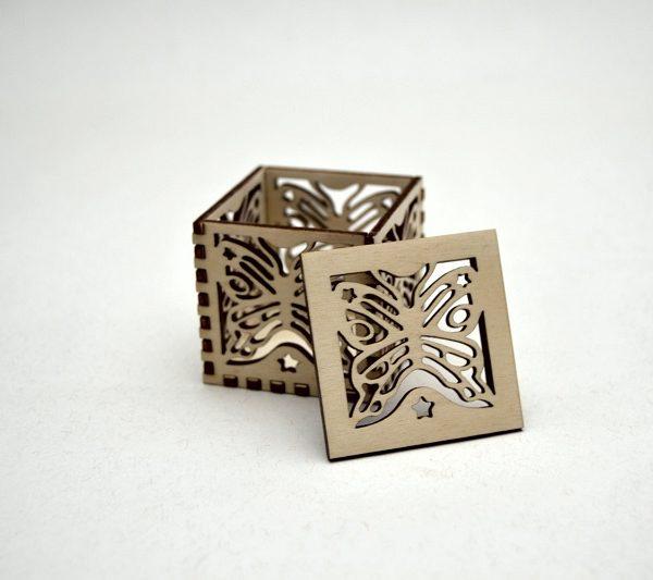 Laser Cut Wooden Butterfly Box