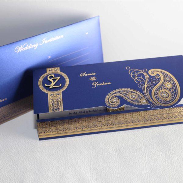 Muslim wedding Cards Blue_05