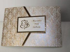 Hindu wedding Cards white