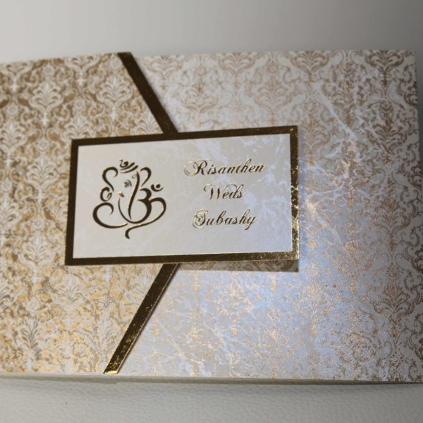 Hindu wedding Cards white