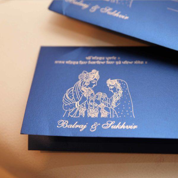 Hindu sikh wedding Invitations