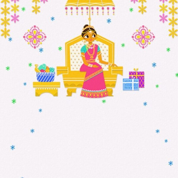Saree Ceremony Card